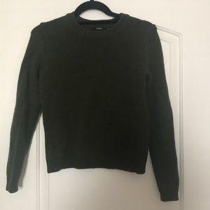 Dark green Theory crew neck sweater